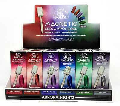 IBD Just Gel Polish - AURORA MAGNETIC + FREE MAGNET .5oz - Pick your color