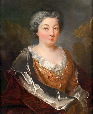 Huge Oil painting female portrait noble lady Wearing fancy clothes Hand painted