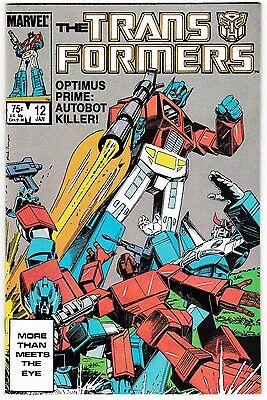 TRANSFORMERS #12 (NM-) OPTIMUS PRIME goes Bad?? Upcoming Movie Premise! 1986