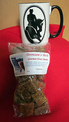 New Dressage Horse Half Pass Large Coffee Mug - Plus 9 oz. Gourmet Horse Treats