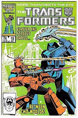 TRANSFORMERS #18 (VF/NM) Blaster versus Straxus! 1986 Copper-Age Marvel Comic