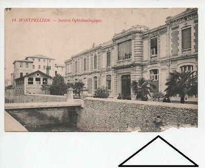 Carte Postale Ancienne Cpa 34 Herault 11 Montpellier Institut Ophtalmologique Ab