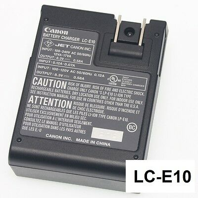 Original CANON EOS Rebel T3 T5 T6 1100D 1200D 1300D LP-E10 Charger LC-E10 Used