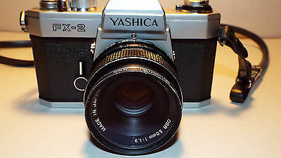 Yashica FX-2 35mm Film Camera w/ Yashica DSB 50mm Lens & Leather Case