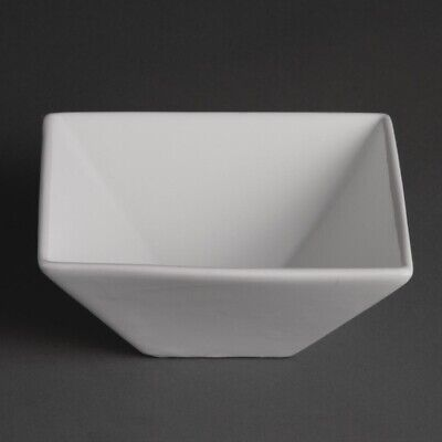 Olympia (Pack of 12) Whiteware Square Bowls 170mm BARGAIN