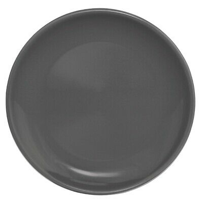 Olympia (Pack of 12) Cafe Coupe Plate 200mm Charcoal BARGAIN
