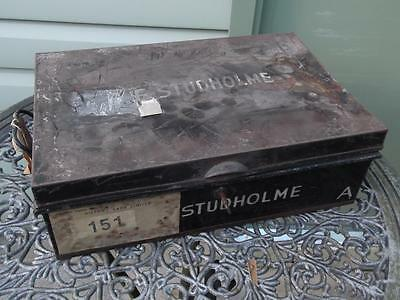 Vintage Metal Deed Box Storage Tin Chest #3 Signwritten Studholme