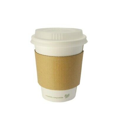 Vegware (Pack of 1000) Compostable Single Wall Hot Cup 230ml BARGAIN
