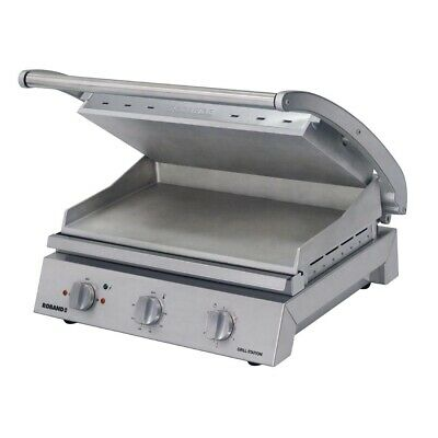 Commercial Roband Grill Station Smooth Plates Sandwich Press Griller Gsa815S