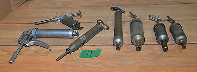7 old vintage grease guns engine auto industrial oiler collectible tool lot