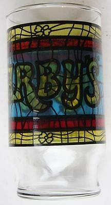 1960-70s Arby's Roast Beef Restaurant stained glass look drinking glass-VINTAGE!