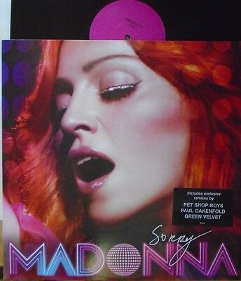 "MADONNA ~ Sorry ~ 12"" Single PS"