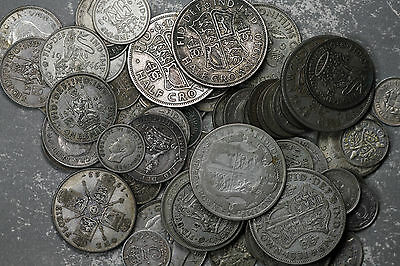 Silver Coins from Great Britain - 66 Coins 1872-1949 - See Description of List