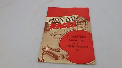 VINTAGE  Ft Miami Midget Raceway Official Program 1952 Stock Car TOLEDO, OHIO