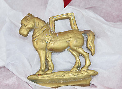 BRASS Harness Bridle Saddle Medallian Decoration * Harnessed Plow Work Horse