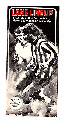 1974-1975 Sheffield United v Chesterfield  League Cup