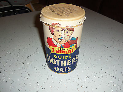 """Vintage Quick Mothers Oats Oatmeal Cardboard Container Advertising 9 1/2"""""""