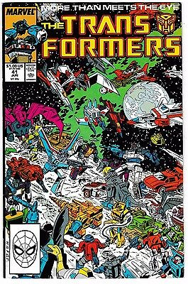 TRANSFORMERS #41 (VF/NM) Dinobots! Headmasters! 1st Joyride! 1988 Marvel