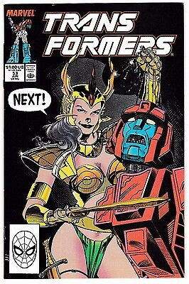 TRANSFORMERS #53 (NM-) Jim Lee Cover! Marvel 1989 Copper-Age Classic