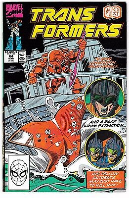 TRANSFORMERS #64 (VF-) Part 3 of 5 of the Matrix Quest Story Low Print Run! 1990