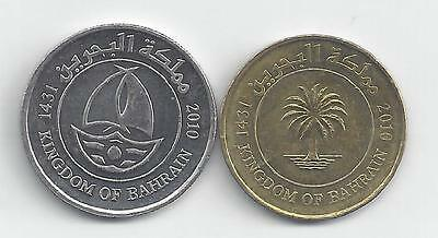 2 DIFFERENT COINS from BAHRAIN - 10 & 50 FILS (BOTH 2010)...50 FILS w/ SHIP.