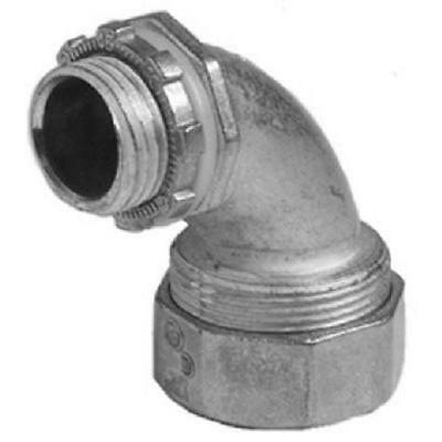 "1/2"" Zinc 90-Degree Liquid Tight Connector Halex Pipe Fittings 91695"
