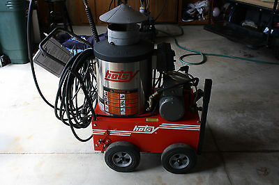 Hotsy 555SS Electric Hot Water Pressure Washer with Fuel Oil Burner - Used