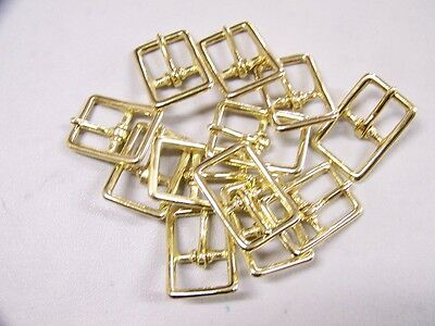 Leather Craft Buckles~~# 121 Buckle~~Solid Brass~~3/4 Inch Size ~~(12) Quantity