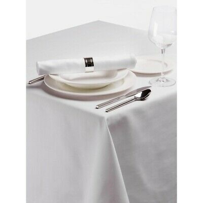 Palmar Polyester Tablecloth White 54in BARGAIN