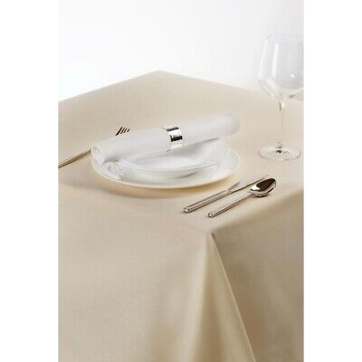 Palmar Polyester Ivory Tablecloth BARGAIN