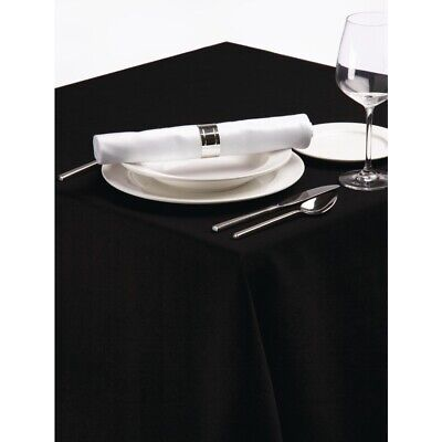 Palmar Polyester Tablecloth Black 70 x 108in BARGAIN