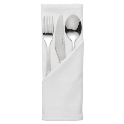 Palmar Polyester White Napkin (Pack of 10) BARGAIN