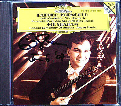 Gil SHAHAM Signiert BARBER KORNGOLD Violin Con PREVIN Much Ado About Nothing CD