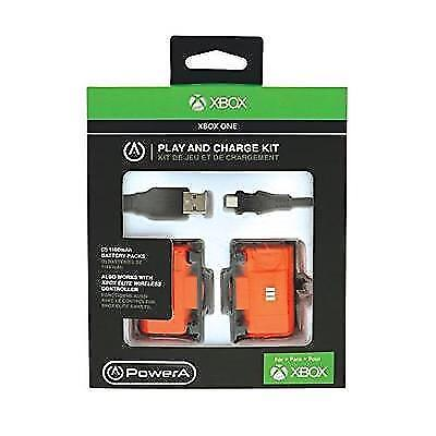 POWER A PLAY & CHARGE KIT for XBOX ONE New