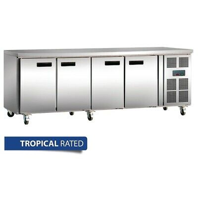 Commercial Polar 4 Door Four Doors Work Bench Counter Fridge Chiller 553L
