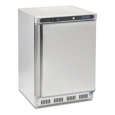 Commercial Polar Under Bench Fridge Chiller Cooler 150Ltr Stainless Steel