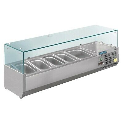 Commercial Polar Refrigerated Servery Topper Salad Prep Fridge Chiller 1200Mm