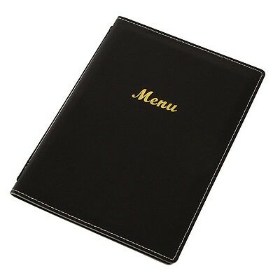 Leatherette Style Menu Holder A4 2 Card BARGAIN