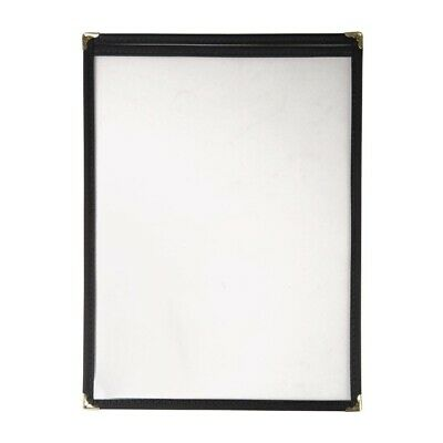 American Style Menu Holder Black 2 Card BARGAIN