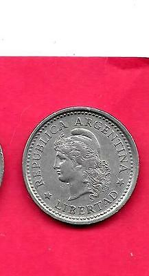 Argentina Km57 1960 Vf-Very Fine-Nice Old Vintage Large Peso Coin