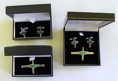 Royal Marines Commando Silver Dagger Cufflinks, Cufflinks/tie Slide Or Tie Slide