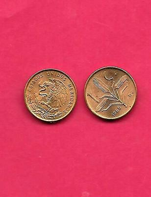 Mexico Mexican Km417 1965 Unc-Uncirculated Old Vintage Bronze Centavo Coin
