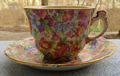 Royal Winton Sunshine Floral Chintz Cup and Saucer Set