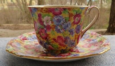 Royal Winton Royalty Floral Chintz Cup and Saucer Set