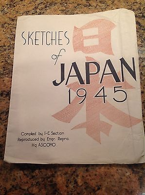 Occupied Japan World War 2 Sketch Book by U S Army Occupation Forces 17 8 x 10