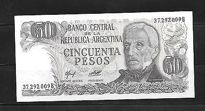 ARGENTINA #301b 1978 50 PESO MINT CRISP  OLD BANKNOTE PAPER MONEY CURRENCY NOTE