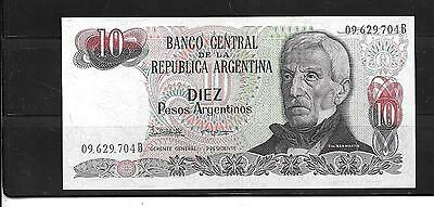 ARGENTINA #313a CRISP MINT 10 PESO OLD BANKNOTE PAPER MONEY CURRENCY BILL NOTE