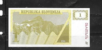 SLOVENIA #1a 1990 TOLAR UNUSED MINT OLD BANKNOTE BILL NOTE PAPER MONEY CURRENCY