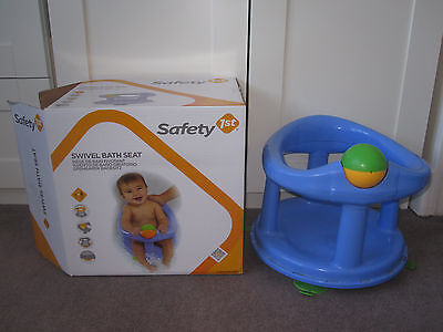 Safety 1st Baby Swivel Bath Seat - Blue Colour- Boxed - Superb Condition