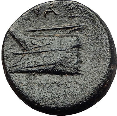 ARADOS in PHOENICIA 215BC Tyche Galley Ship Authentic Ancient Greek Coin i60749